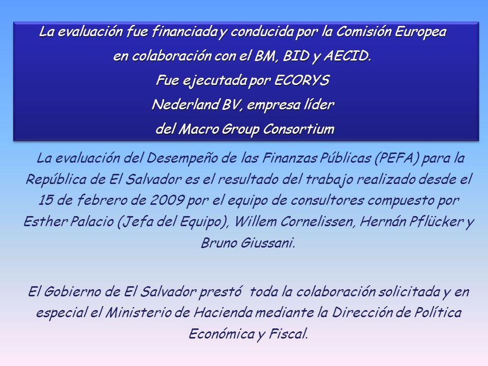 La evaluación fue financiada y conducida por la Comisión Europea