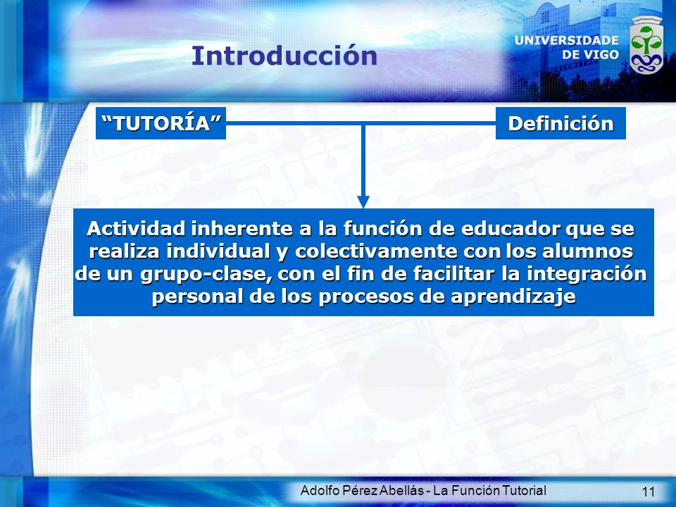 Introducción TUTORÍA Definición