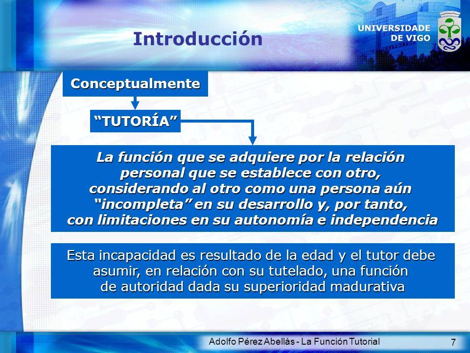 Introducción Conceptualmente TUTORÍA