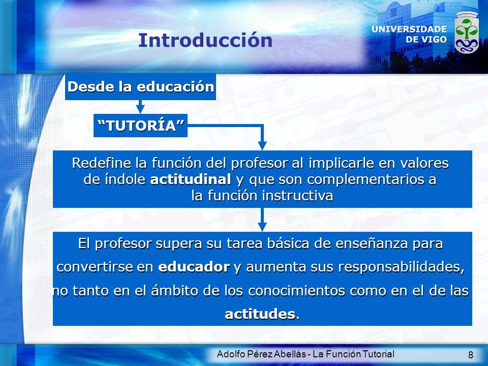 Introducción Desde la educación TUTORÍA