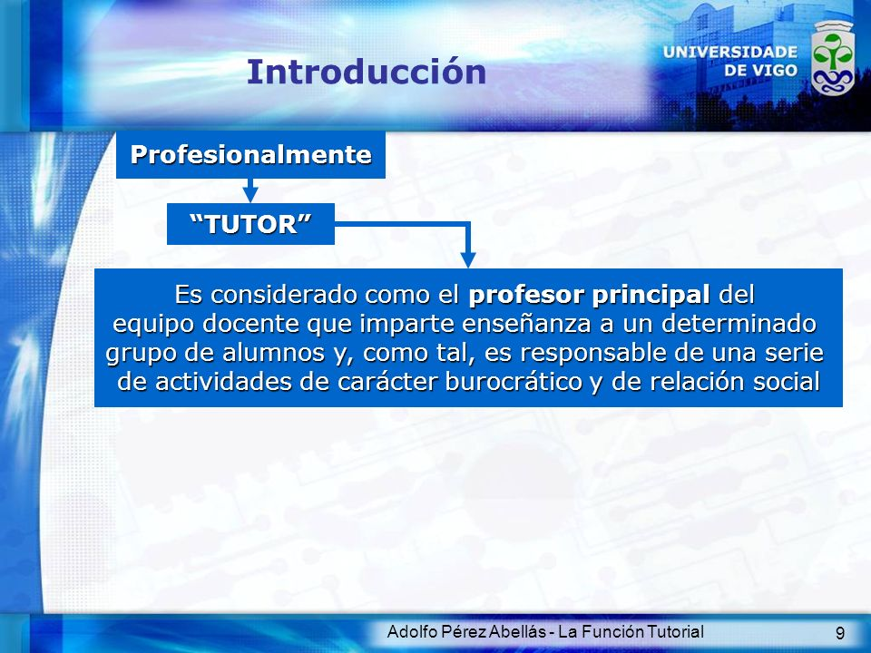 Introducción Profesionalmente TUTOR