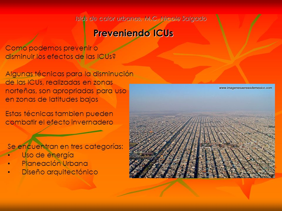 Islas de calor urbanas, M.C. Nicole Salgado
