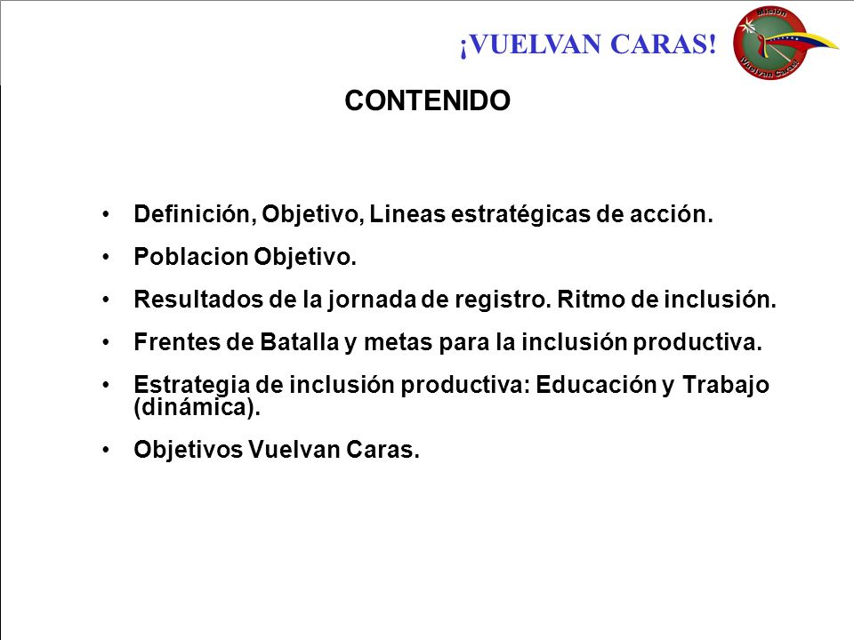 CONTENIDO Definición, Objetivo, Lineas estratégicas de acción.