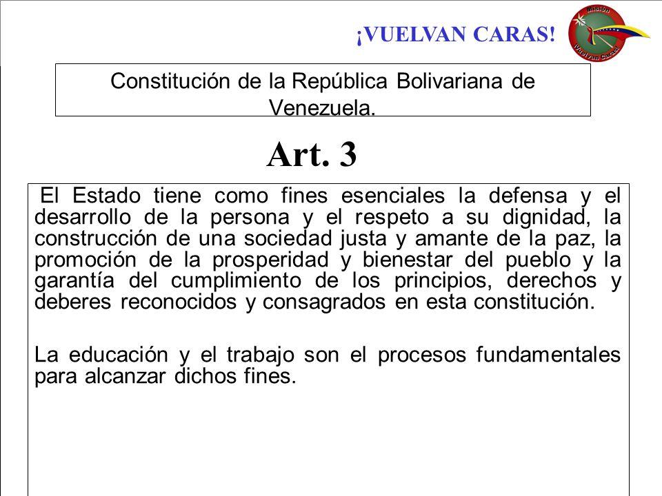 Constitución de la República Bolivariana de Venezuela.