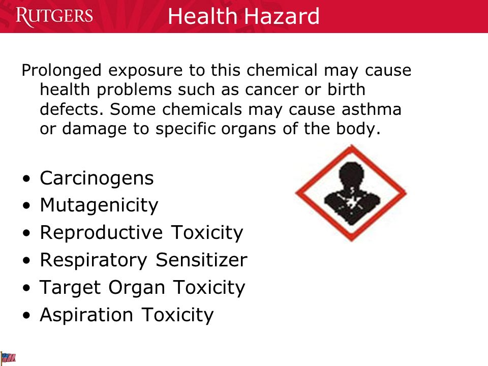 Health Hazard Carcinogens Mutagenicity Reproductive Toxicity