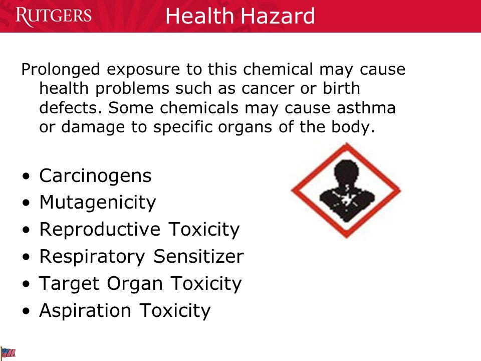 Health Hazard Carcinogens Mutagenicity Reproductive Toxicity