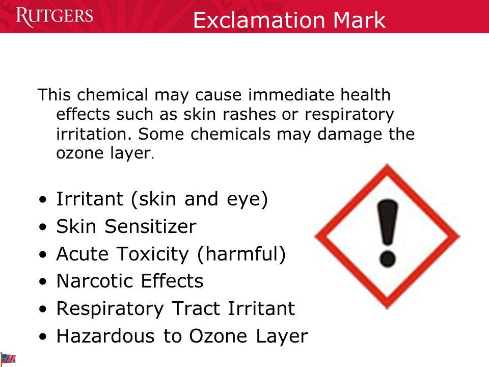 Exclamation Mark Irritant (skin and eye) Skin Sensitizer