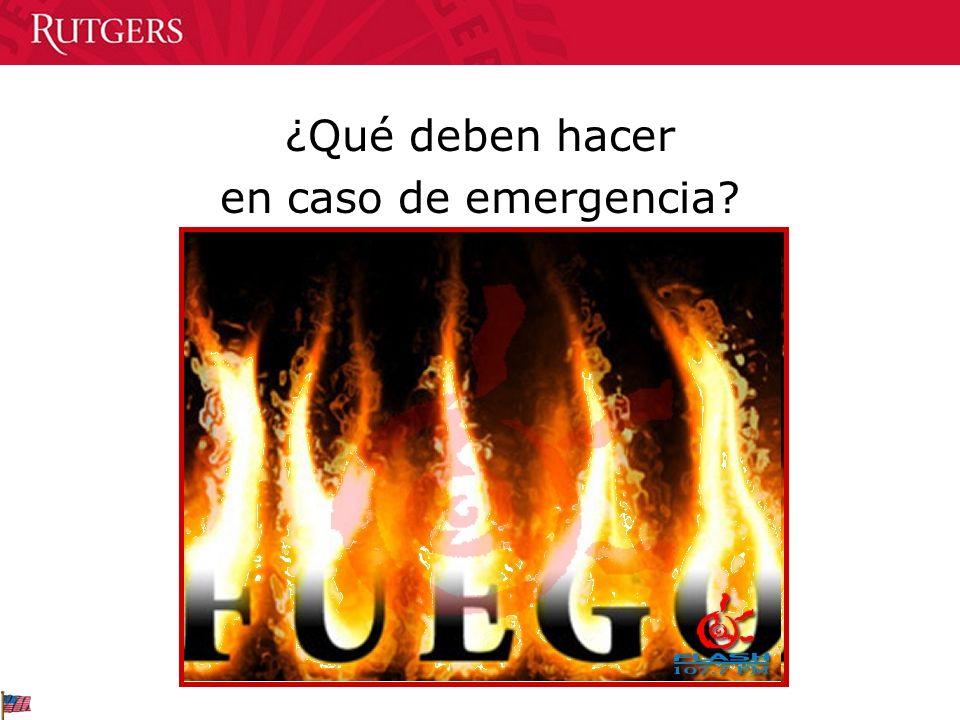 ¿Qué deben hacer en caso de emergencia
