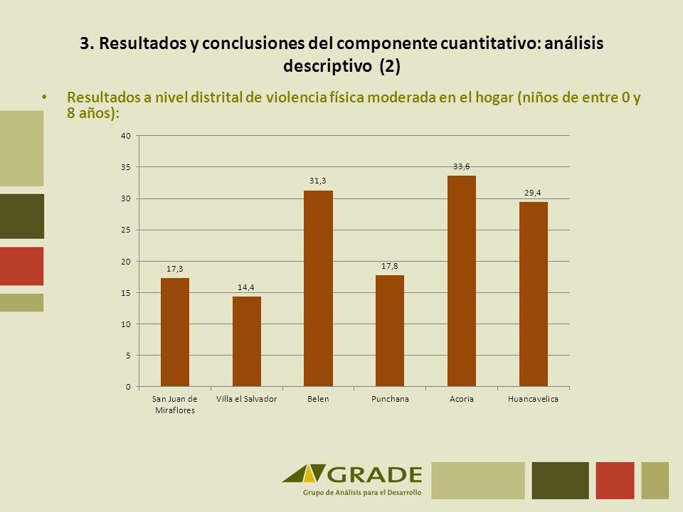3. Resultados y conclusiones del componente cuantitativo: análisis descriptivo (2)