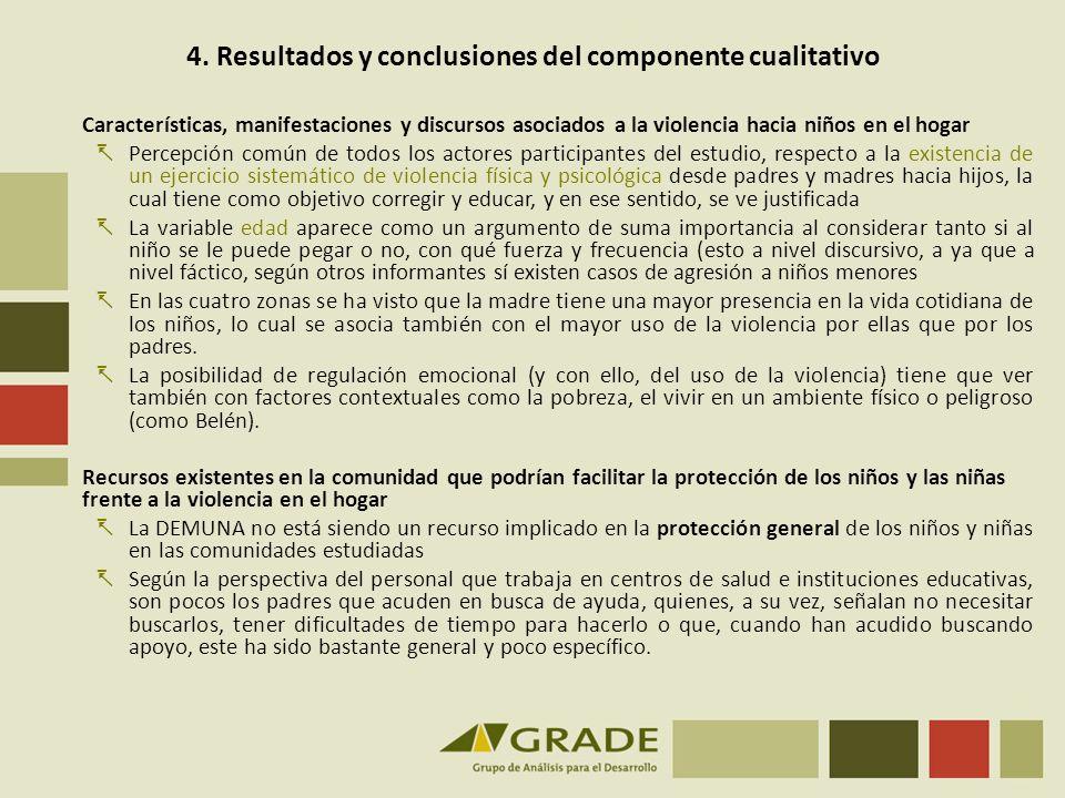 4. Resultados y conclusiones del componente cualitativo