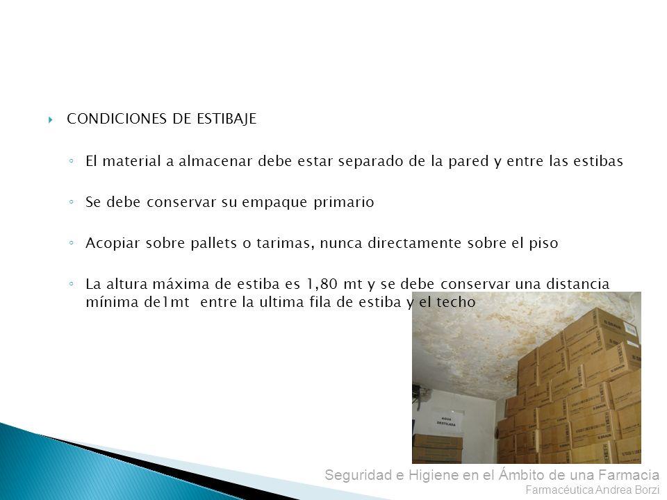 CONDICIONES DE ESTIBAJE
