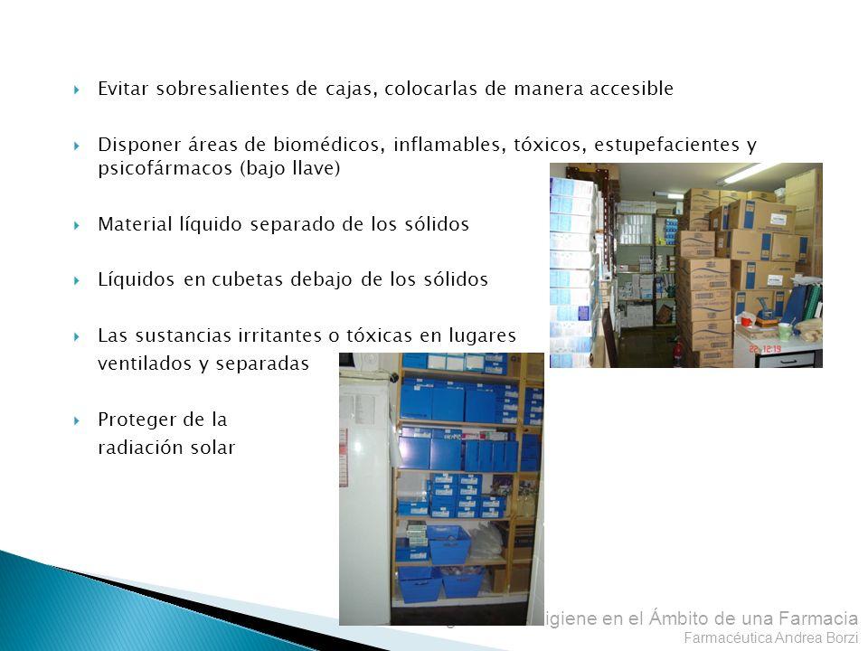 Evitar sobresalientes de cajas, colocarlas de manera accesible
