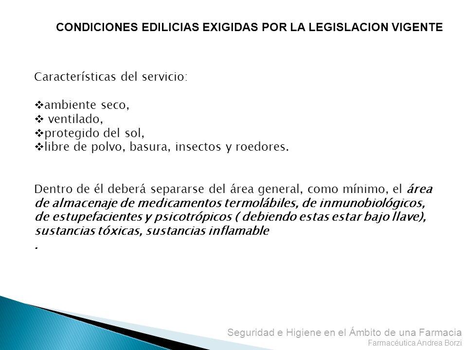 CONDICIONES EDILICIAS EXIGIDAS POR LA LEGISLACION VIGENTE