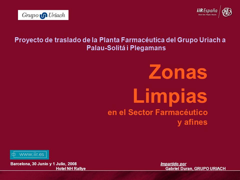 Zonas Limpias en el Sector Farmacéutico y afines