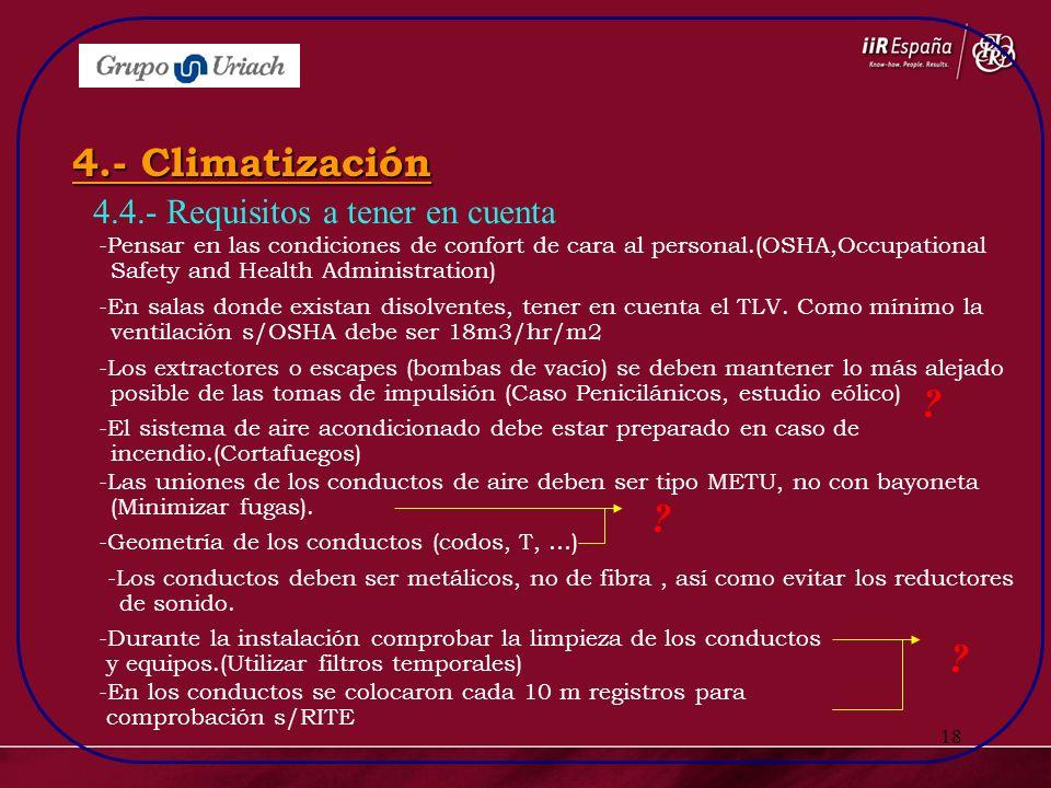 4.- Climatización 4.4.- Requisitos a tener en cuenta