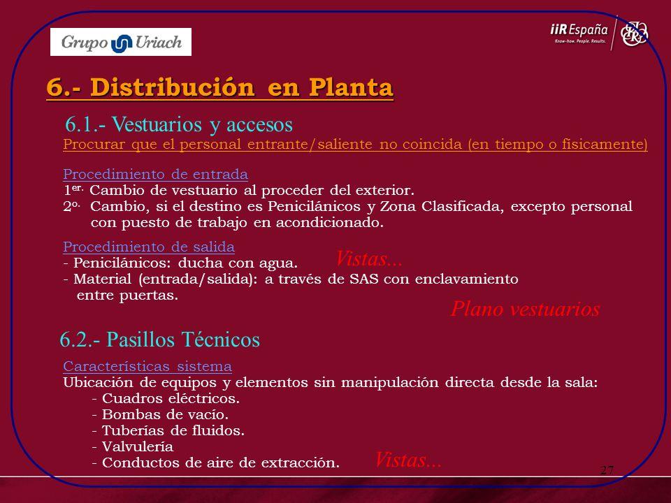 6.- Distribución en Planta