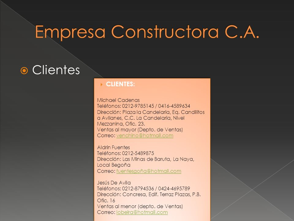 Empresa Constructora C.A.