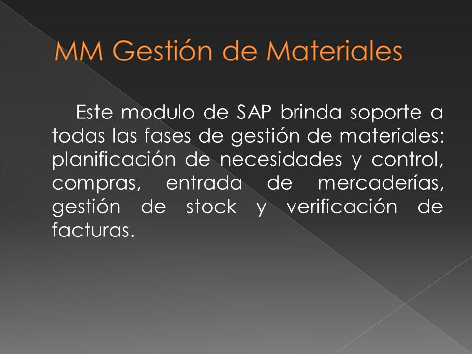 MM Gestión de Materiales