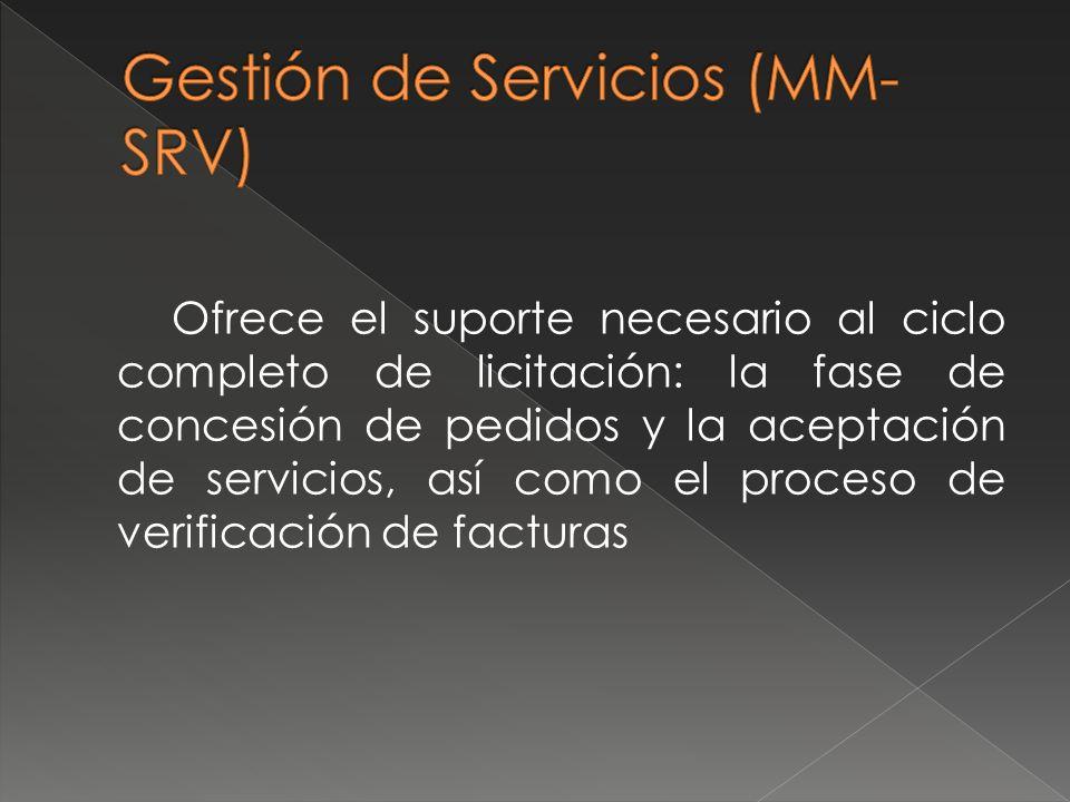 Gestión de Servicios (MM-SRV)