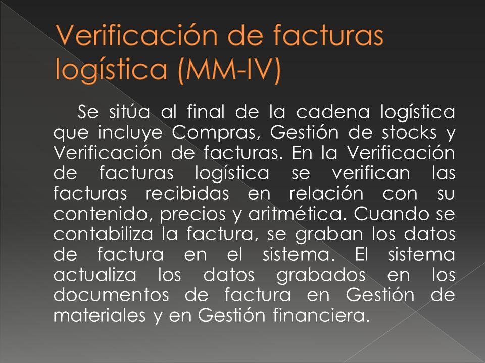 Verificación de facturas logística (MM-IV)