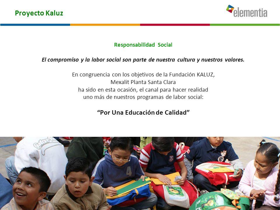 Responsabilidad Social Por Una Educación de Calidad