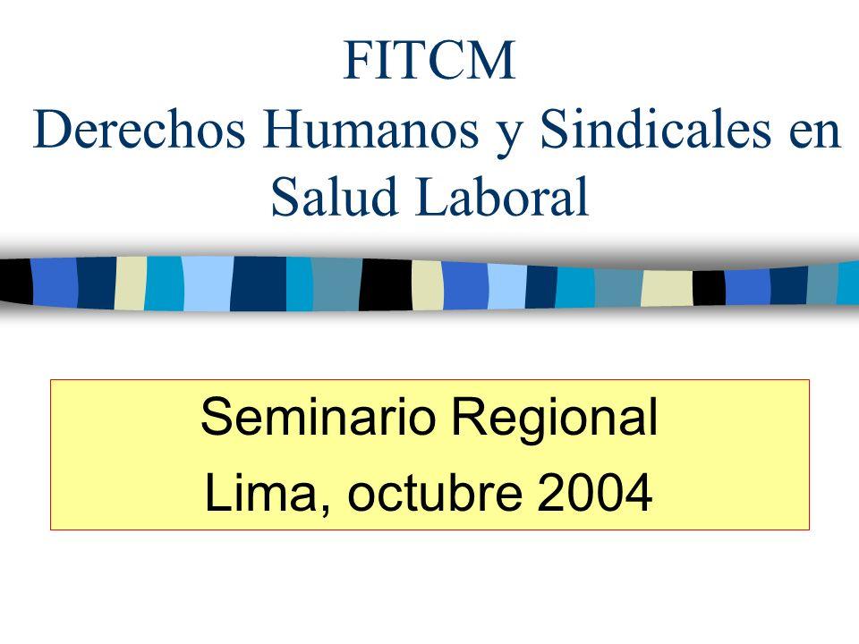 FITCM Derechos Humanos y Sindicales en Salud Laboral