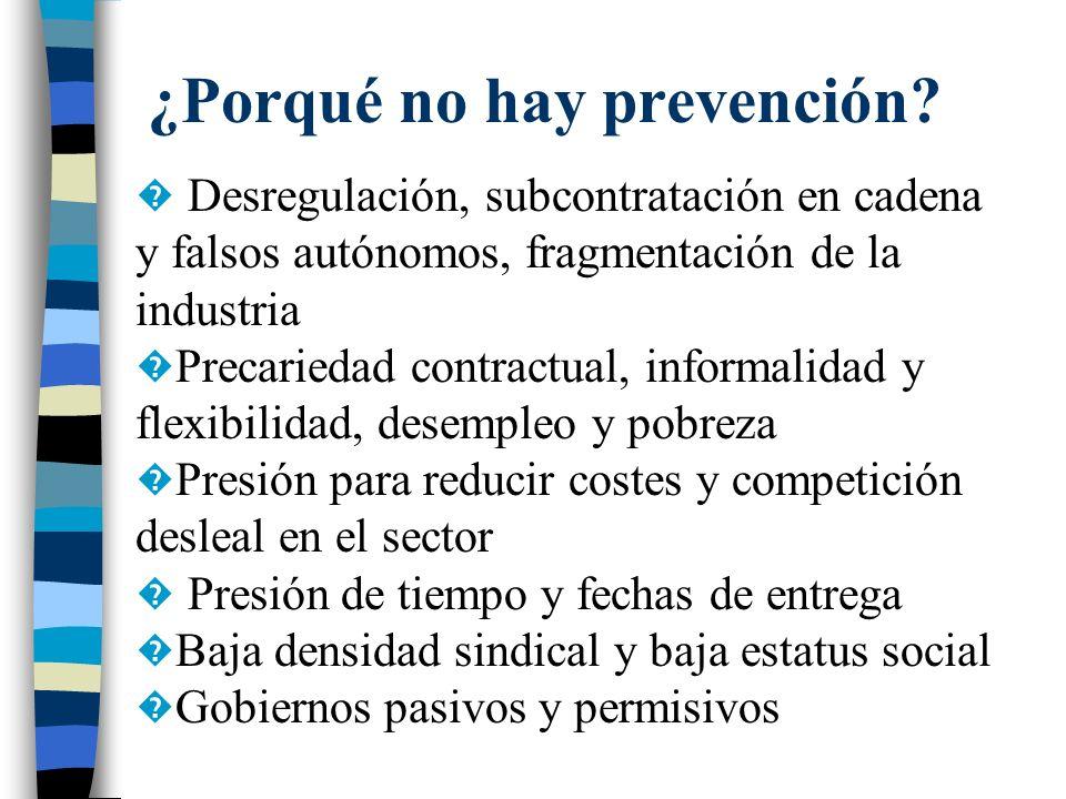 ¿Porqué no hay prevención