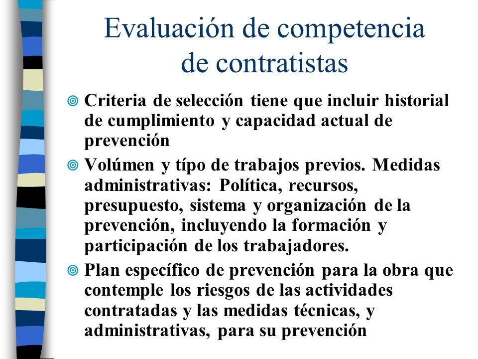Evaluación de competencia de contratistas