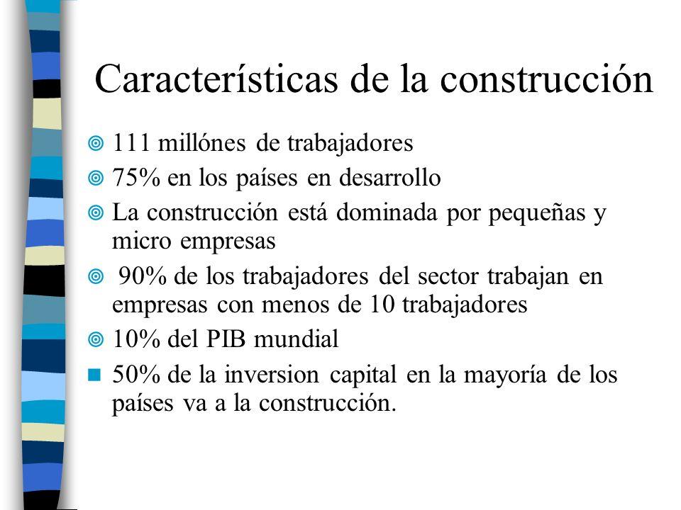 Características de la construcción