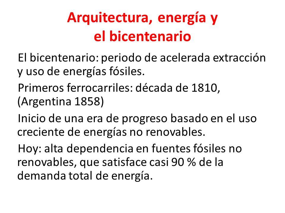 Arquitectura, energía y el bicentenario