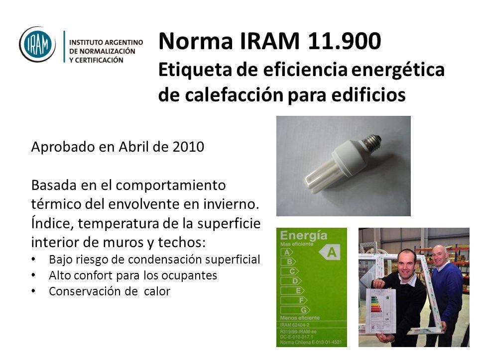 Norma IRAM 11.900 Etiqueta de eficiencia energética de calefacción para edificios