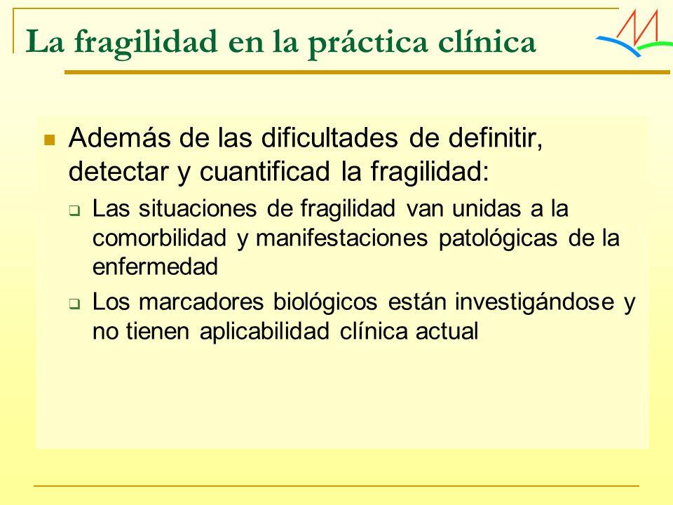 La fragilidad en la práctica clínica