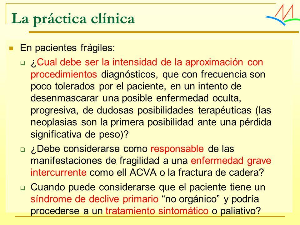 La práctica clínica En pacientes frágiles: