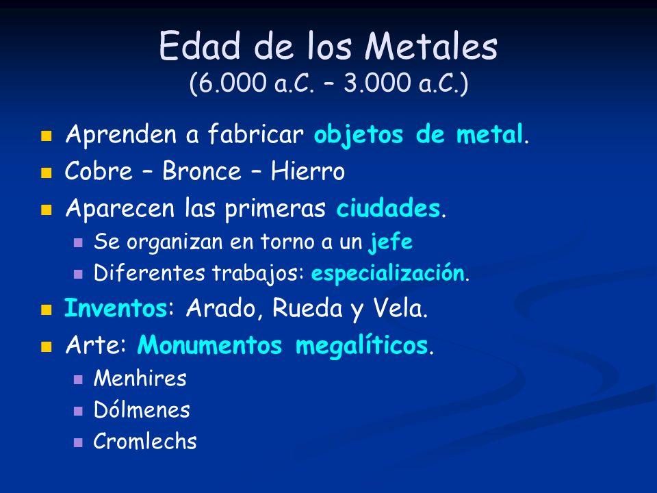 Edad de los Metales (6.000 a.C. – 3.000 a.C.)