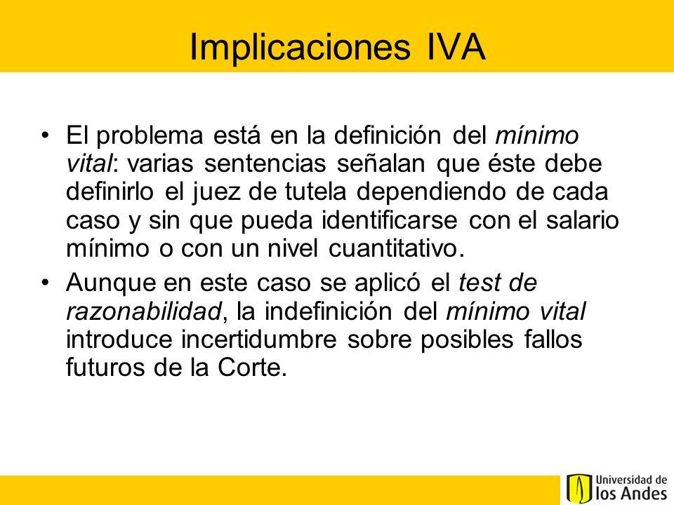 Implicaciones IVA