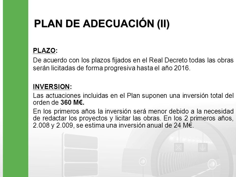 PLAN DE ADECUACIÓN (II)