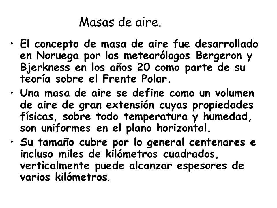 Masas de aire.