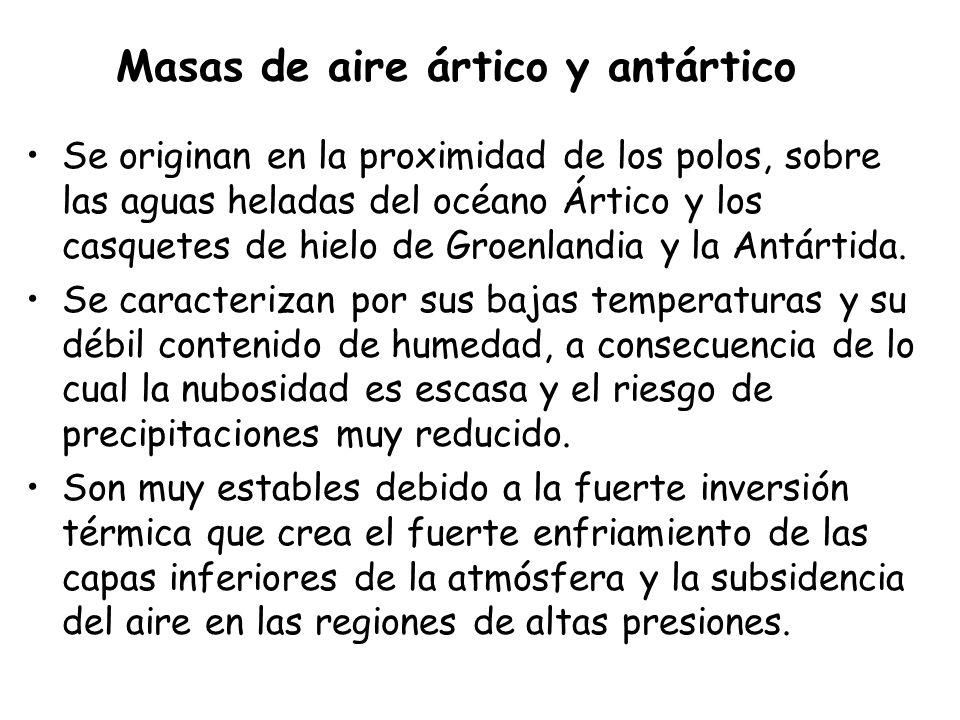 Masas de aire ártico y antártico