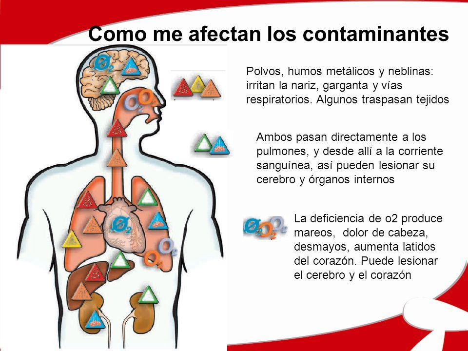 Como me afectan los contaminantes