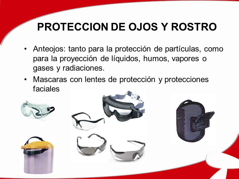 PROTECCION DE OJOS Y ROSTRO