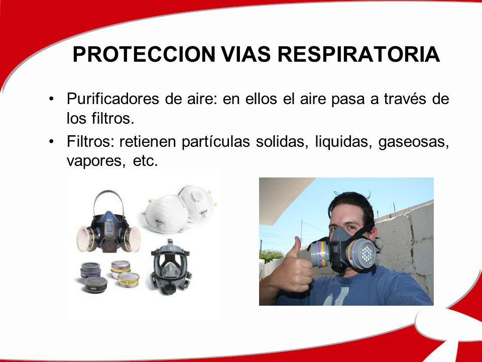 PROTECCION VIAS RESPIRATORIA