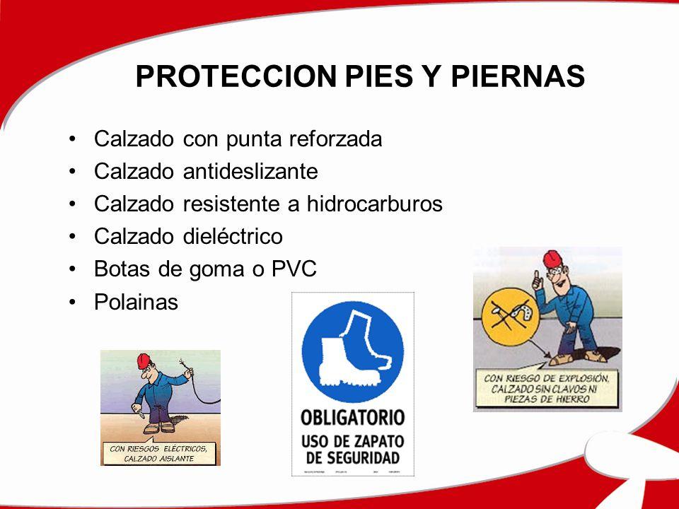 PROTECCION PIES Y PIERNAS