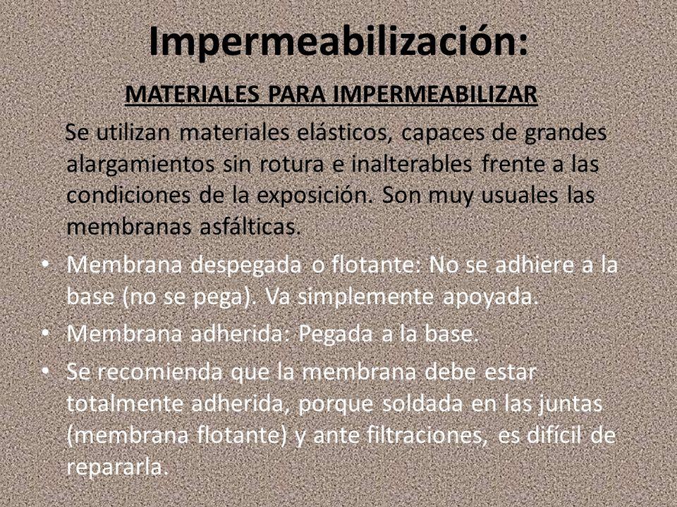Impermeabilización: Materiales para impermeabilizar