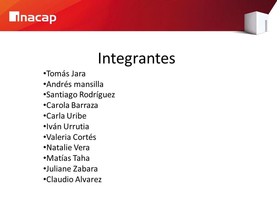 Integrantes Tomás Jara Andrés mansilla Santiago Rodríguez