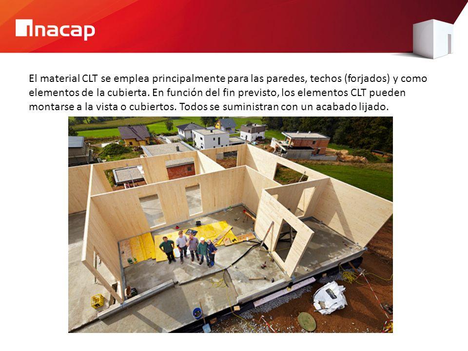 El material CLT se emplea principalmente para las paredes, techos (forjados) y como elementos de la cubierta.