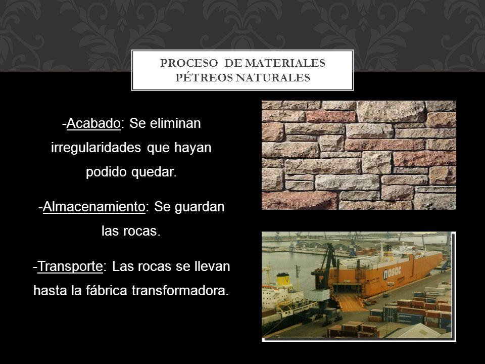 Proceso De materiales pétreos naturales