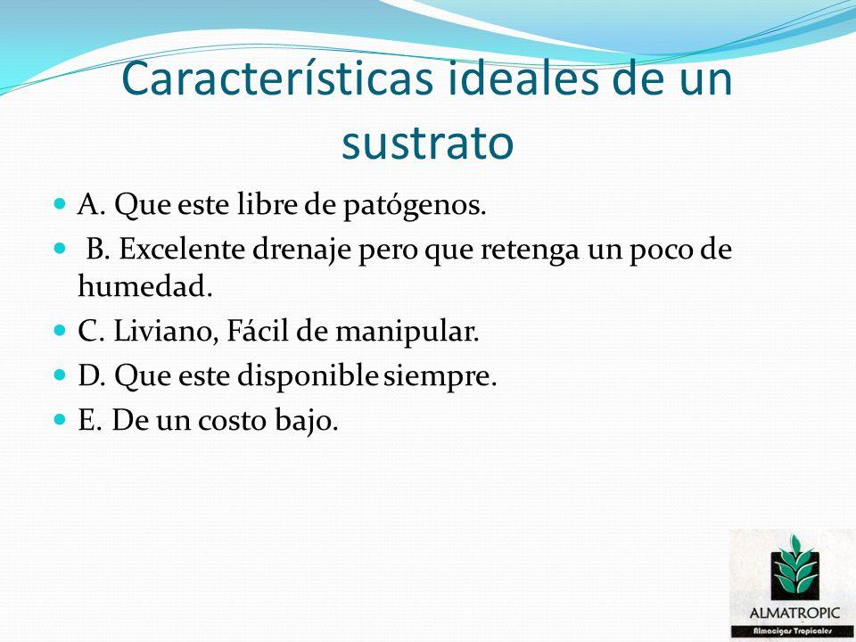 Características ideales de un sustrato