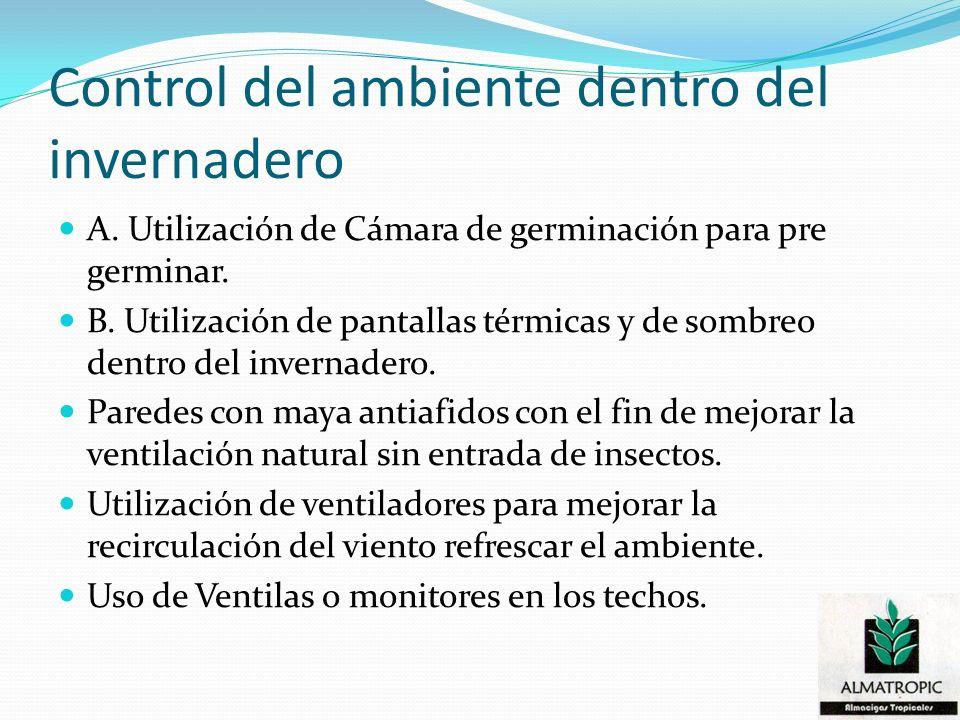 Control del ambiente dentro del invernadero