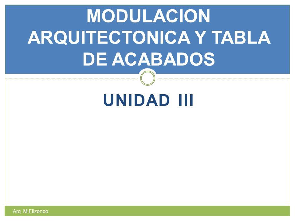 MODULACION ARQUITECTONICA Y TABLA DE ACABADOS