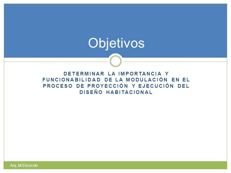 Objetivos determinar la importancia y funcionabilidad de la modulación en el proceso de proyección y ejecución del diseño habitacional.